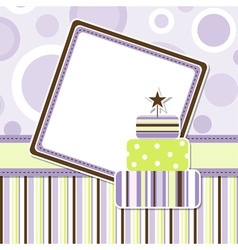 Birthday celebration card vector