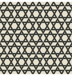 Six-pointed star monochrome seamless pattern vector