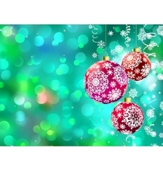 Christmas with multicolor baubles EPS 8 vector image