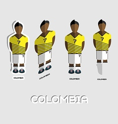 Colombia soccer team sportswear template vector