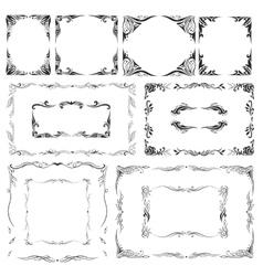 Elegant Frames Set vector image
