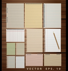 Vintage paper on wood vector