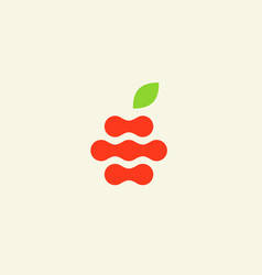 Abstract apple logo design template fruit vector