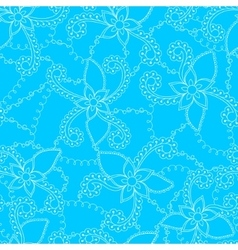 Abstract flowers blue vector image vector image