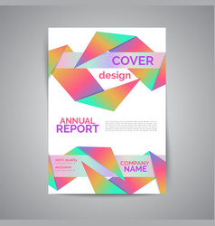 Annual report template modern flyer with vector