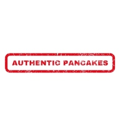 Authentic Pancakes Rubber Stamp vector image