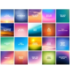 BIG set N3 of 20 square blurred nature backgrounds vector image vector image