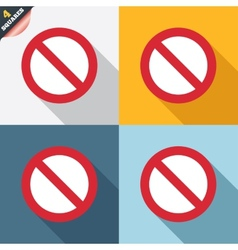 Blacklist sign icon user not allowed symbol vector