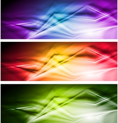 Bright banners with abstract stripes vector image vector image