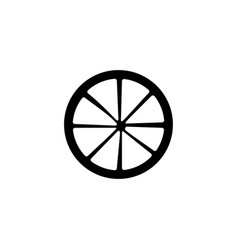 cart wheel icon singe western icon from the wild vector image
