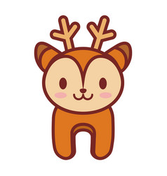 cartoon deer animal image vector image
