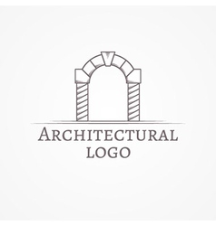 Circle arch icon with text vector