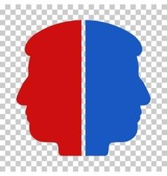 Dual face icon vector