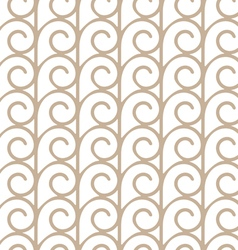 Elegant seamless pattern with beige swirls vector