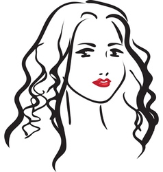 face of beautiful woman vector image