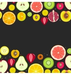 Fruit Slices Frameon a Dark Background vector image vector image