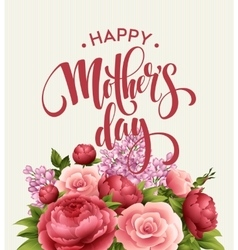 Happy Mothers Day Lettering card Greetimng card vector image