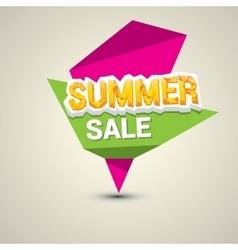 hot summer sale sticker vector image