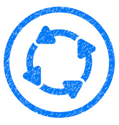 Rotate cw rounded grainy icon vector