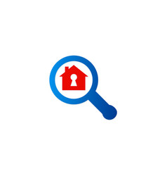 search secure home logo vector image