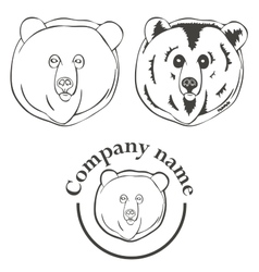 set of logos with the image of a bear vector image vector image