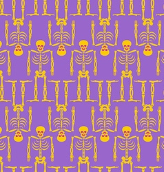 Skeleton seamless pattern Bones and skull ornament vector image vector image
