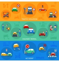 Traffic violation banner set vector