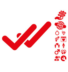 validation icon with lovely bonus vector image vector image