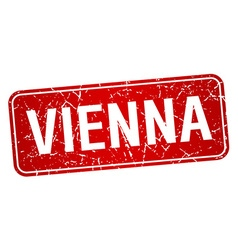Vienna red stamp isolated on white background vector