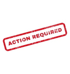 Action required text rubber stamp vector