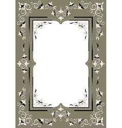 Frame with eastern decor vector