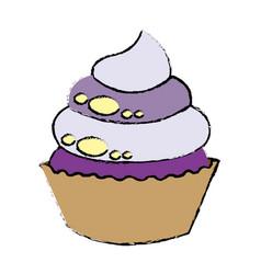 sweet cupcake dessert party celebration vector image