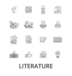 literature book writing library music reading vector image