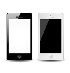 Smart phones isolated on white background vector