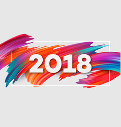 2018 new year on the background of a colorful vector image vector image