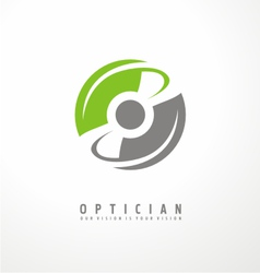 Optician creative symbol concept vector image