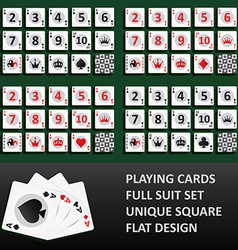 Playing cards full suit set vector