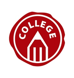 Logo pencil and printing for college vector