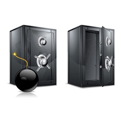 Metal safes vector