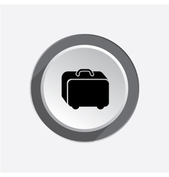 Baggage icon hand luggage for traveling airport vector
