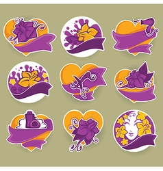 Beauty stickers vector