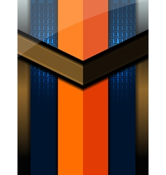 Orange blue modern background vector