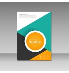 Cover design for brochure template vector