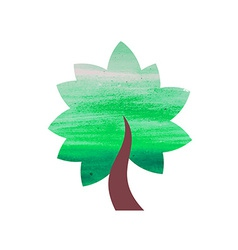 Abstract watercolor tree vector