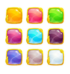 beautiful colorful square buttons vector image