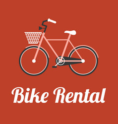 Bike rental in retro style vector