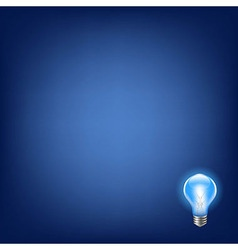 Blue bulb with background vector