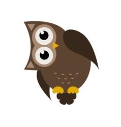 Cartoon brown owl icon vector image vector image