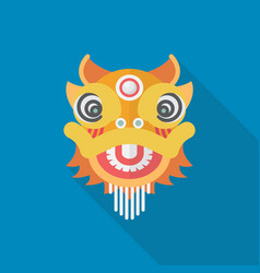 Chinese dancing lion vector
