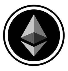 Coin crypto currency ethereum vector